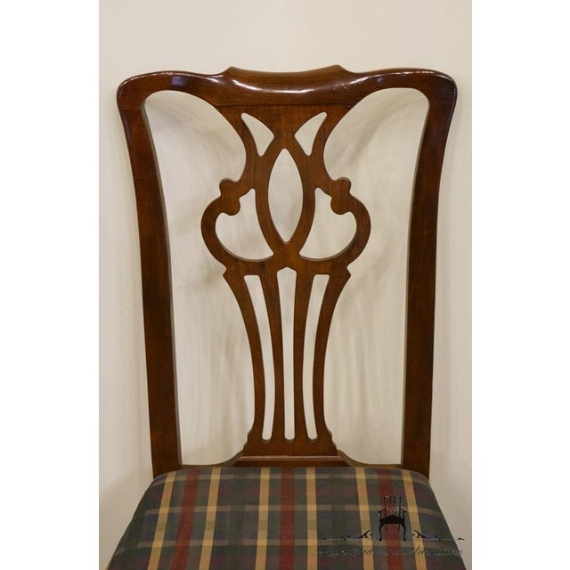 Mahogany Late 20th Century Drexel Heritage Chippendale Style Dining Chair For Sale - Image 7 of 12
