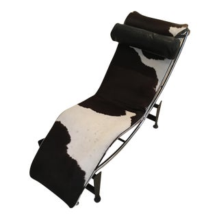 Custom Made Le Corbusier Style Horse Hair Lounge Chair