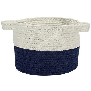 "Beach Bum Basket Navy 15""x15""x12"" Storage Basket"