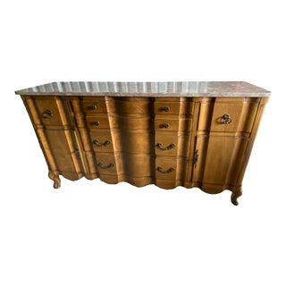 Mid-Century Sideboard or Credenza Secretairie by J.L.Metz Furniture Co. For Sale
