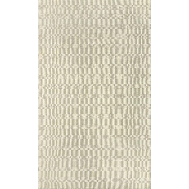 """2010s Erin Gates Newton Holden Green Hand Woven Recycled Plastic Area Rug 5' X 7'6"""" For Sale - Image 5 of 5"""