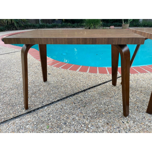Thonet Thonet Mid Century Walnut End Tables - a Pair For Sale - Image 4 of 11