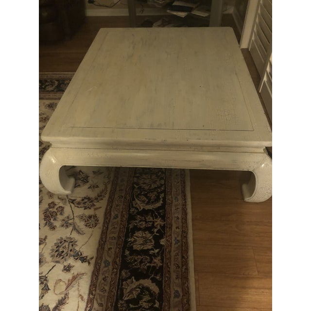 Henredon coffee/cocktail table, refinished shabby chic