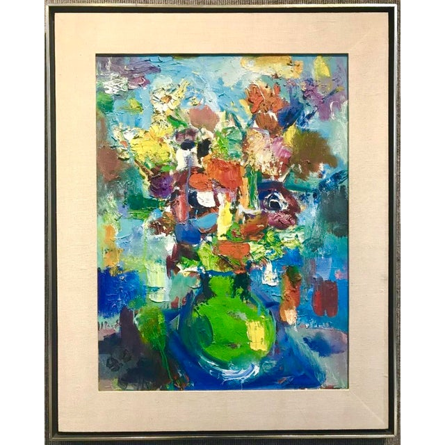 1970 Still Life With Flowers Painting - Image 2 of 5