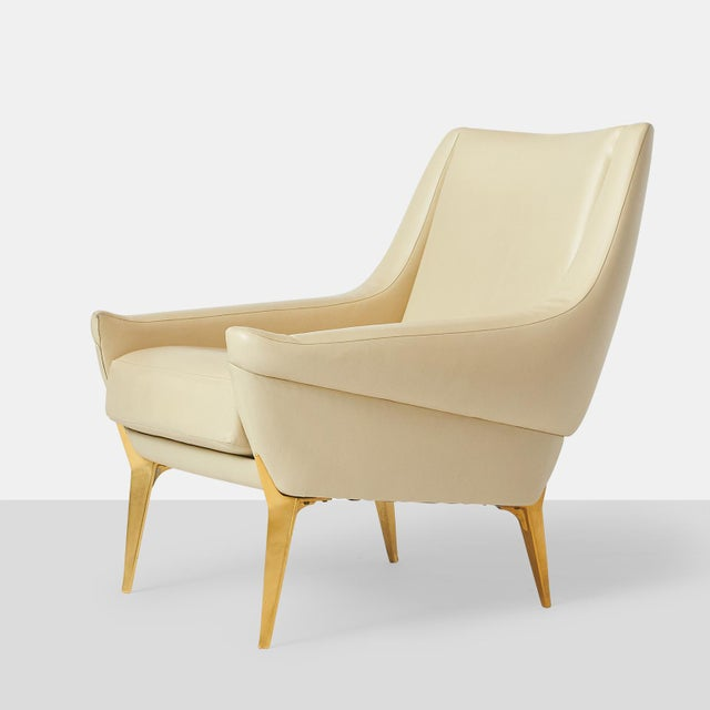 Mid-Century Modern Pair of Lounge Chairs by Charles Ramos For Sale - Image 3 of 9