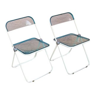 Vintage Plia Lucite Folding Chair by Giancarlo Piretti for Castelli - a Pair For Sale