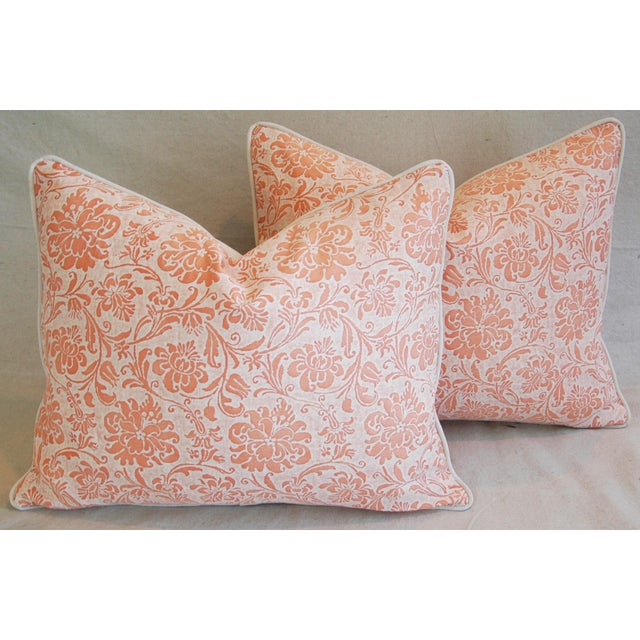 Cotton Designer Italian Fortuny Cimarosa Feather/Down Pillows - a Pair For Sale - Image 7 of 10