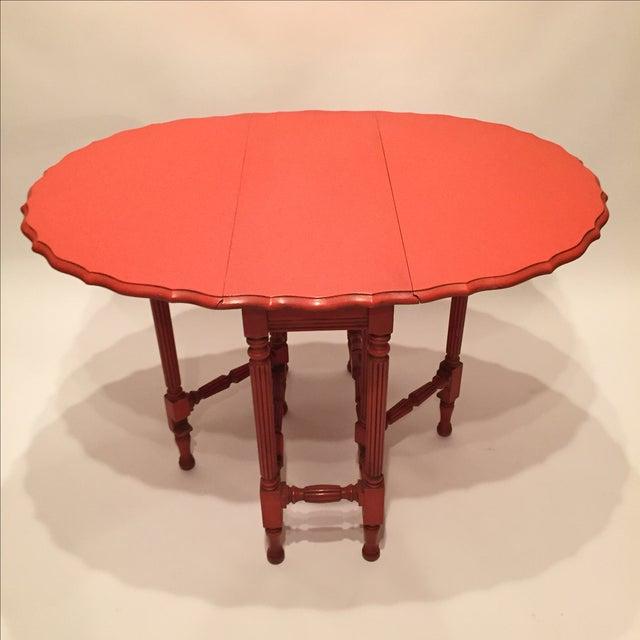 Vintage Orange Drop Leaf Table - Image 8 of 11