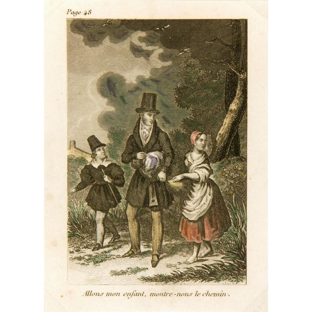Antique Engraving - the Path, C. 1860 For Sale - Image 4 of 4