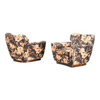 Fratelli Merati Milano Mid-Century Magnolia Chairs - a Pair
