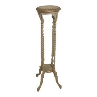 Vintage French Style Barley Twist Leg Pedestal For Sale