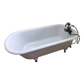 Large White Claw Foot Tub For Sale
