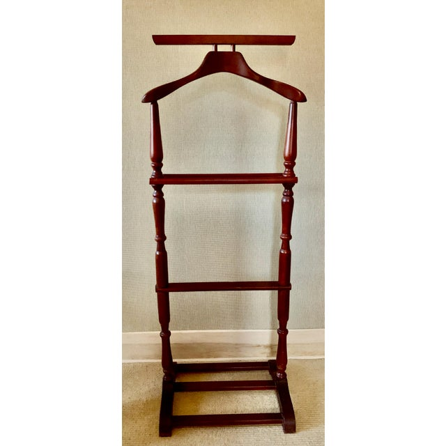English 1960s Mahogany Clothes Stand For Sale - Image 3 of 3