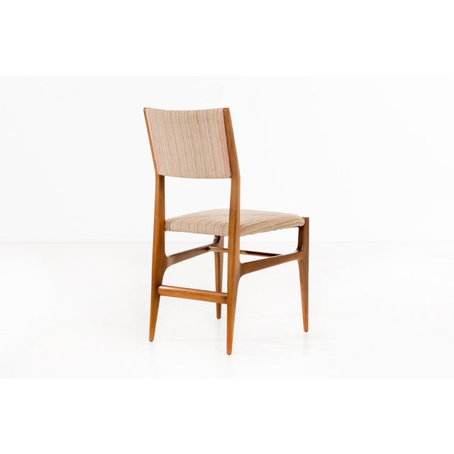 Brown Set of 6 Gio Ponti Dining Chairs For Sale - Image 8 of 10