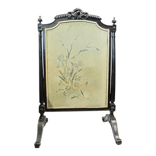 French Napolean III Fireplace Screen For Sale