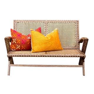 Mid Century Bone Inlay Sofa For Sale