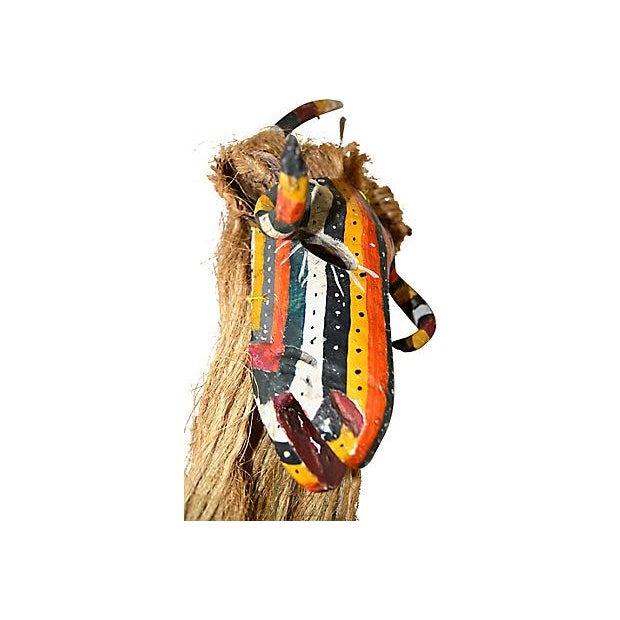 1950s Mexican Ceremonial Guerrero Goat Mask For Sale - Image 5 of 7