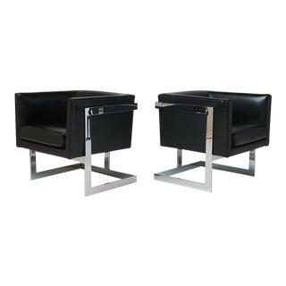 milo baughman t-back lounge chairs