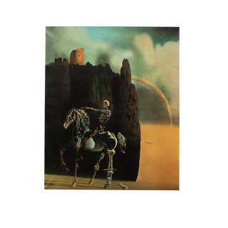 "1957 Salvador Dalí ""The Knight of Death"" Original Period Photogravure For Sale"