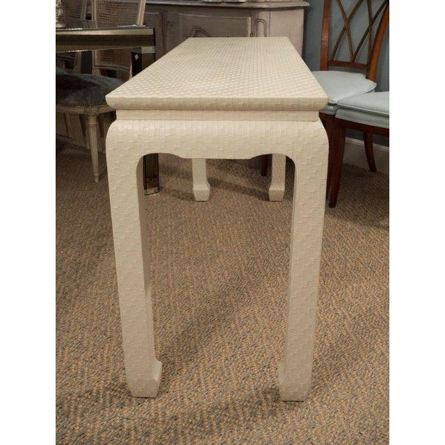 White Lacquered Console Table - Image 8 of 10