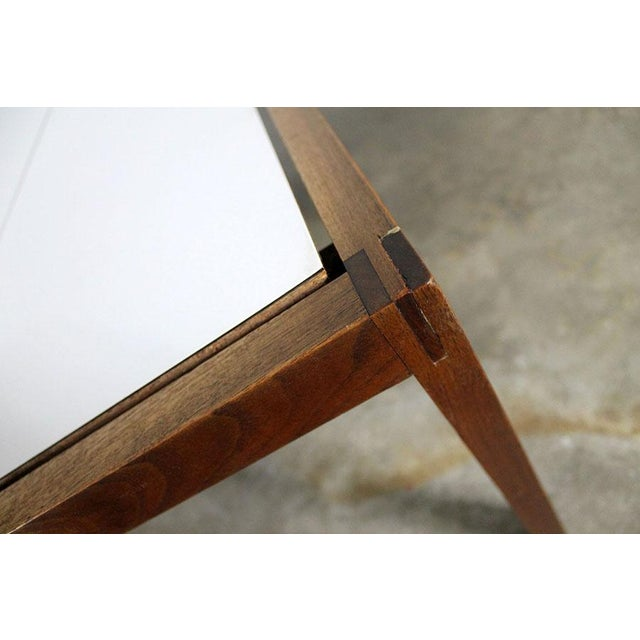 Lewis Butler for Knoll Walnut & White Laminate Coffee Table For Sale - Image 9 of 11