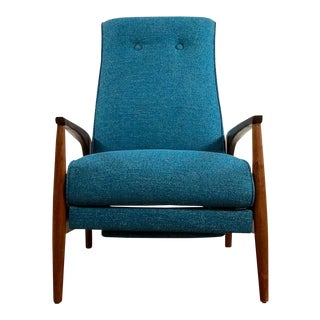 Mid Century Modern Milo Baughman Recliner Lounge Chair For Sale