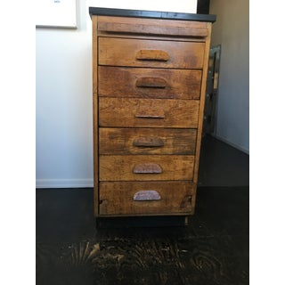 Vintage Wooden File Drawers Cabinet Preview