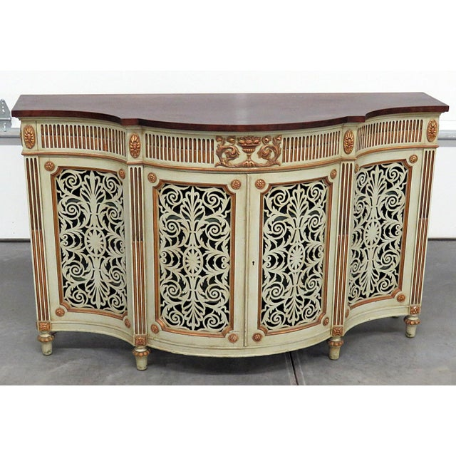 Gold Adams Style Paint Decorated Commode For Sale - Image 8 of 8