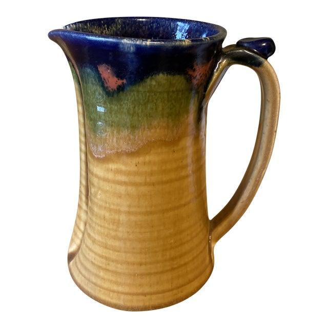 Handmade Glazed Pottery Pitcher or Vase** For Sale