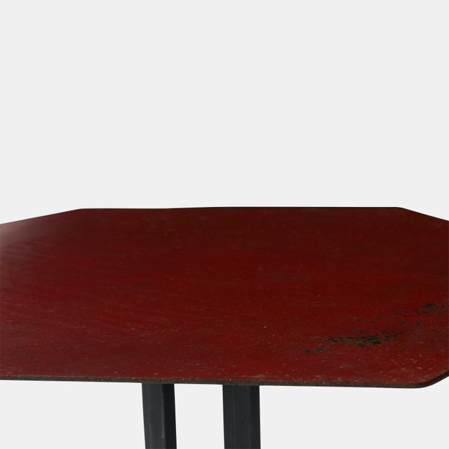 Pair of Warren McArthur and Frank Lloyd Wright Iron Side Tables For Sale In San Francisco - Image 6 of 8