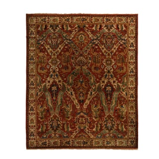 "Antique Floral Wool Rug-9'9'x11'9"" For Sale"