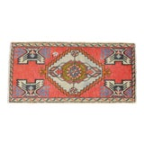 "Image of Hand Knotted Door Mat, Entryway Rug, Bath Mat, Kitchen Decor, Small Rug, Turkish Rug - 1'7"" X 3'3"" For Sale"