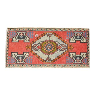 "Hand Knotted Door Mat, Entryway Rug, Bath Mat, Kitchen Decor, Small Rug, Turkish Rug - 1'7"" X 3'3"" For Sale"
