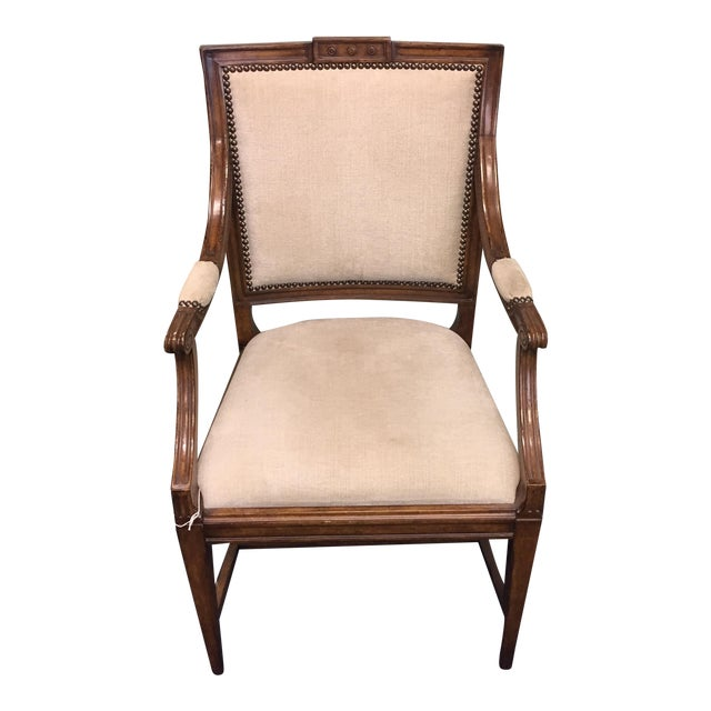 Gustavian Upholstered Armchair - Image 1 of 10