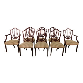Baker Furniture Company Historic Charleston Shield Back Dining Chairs- Set of 8 For Sale