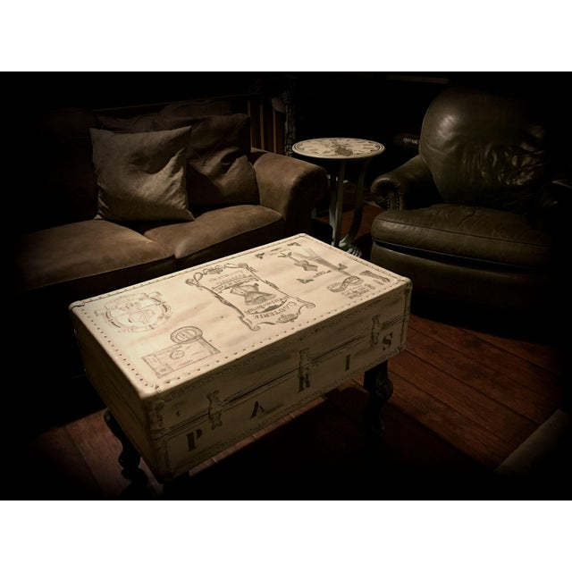Vintage Trunk Queen Anne Coffee Table - Image 6 of 12