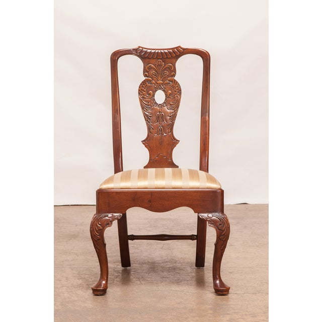 Carved Mahogany Georgian Style Dining Chairs - 12 - Image 3 of 10