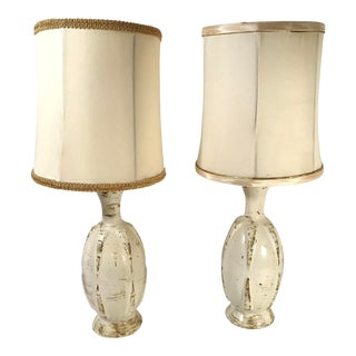 Shabby Chic Ceramic Table Lamps - a Pair For Sale