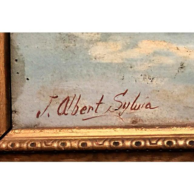 Circa 1935 J. Albert Sylvia American Buffalo Painting - Image 3 of 8