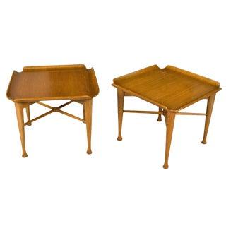 Unique Pair of Danish End Tables For Sale