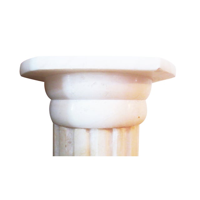 Fluted Marble Column Object - Image 3 of 6