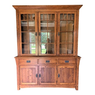Arts & Crafts China Cabinet For Sale