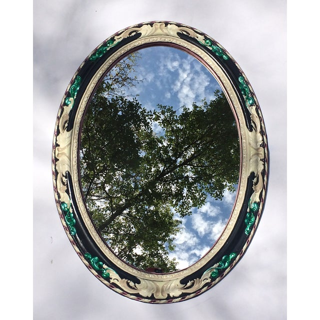 Antiqued Oval Mirror - Image 2 of 4