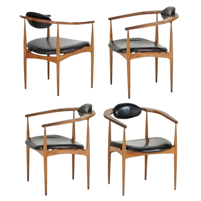 Adrian Pearsall Style 950-C Chairs - Set of 4 - Image 1 of 4