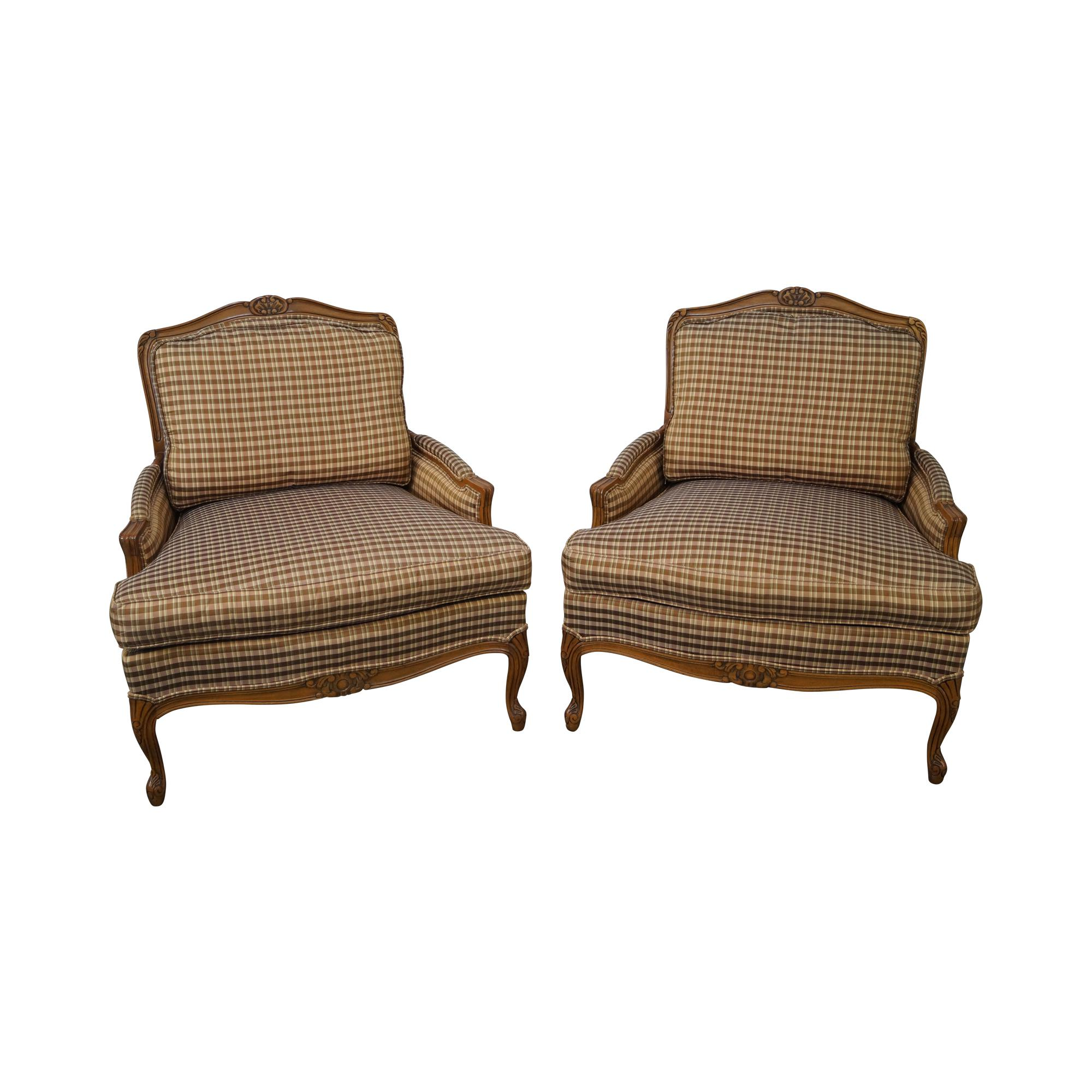 Charmant Taylor King French Louis XV Bergere Chairs   A Pair