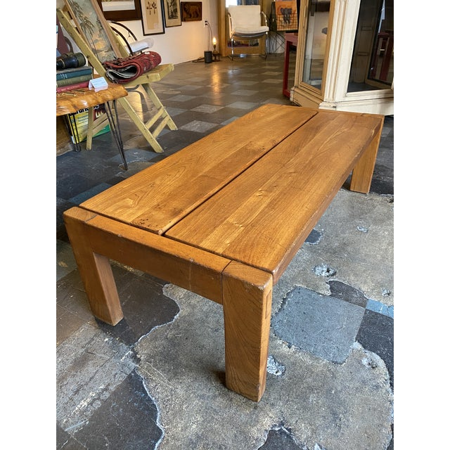 Brown 1950s French Coffee Table From Lyon For Sale - Image 8 of 13
