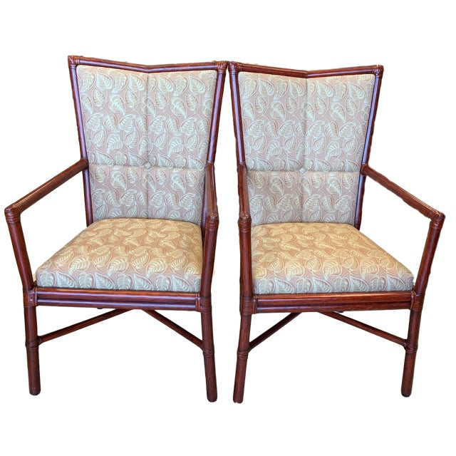 Orlando Diaz-Azcuy McGuire Cambria Chairs - a Pair For Sale - Image 10 of 10