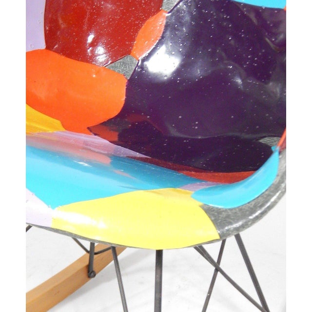 Acrylic Early Eames 1950s Rocker Updated by Artist Jim Oliveira For Sale - Image 7 of 8