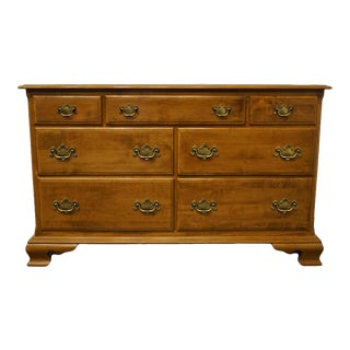Ethan Allen Heirloom Nutmeg Maple Double Dresser For Sale