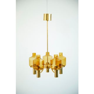 Brass and Glass Chandelier by Hans-Agne Jakobsson Preview